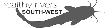 healthy rivers south-west logo in grayscale